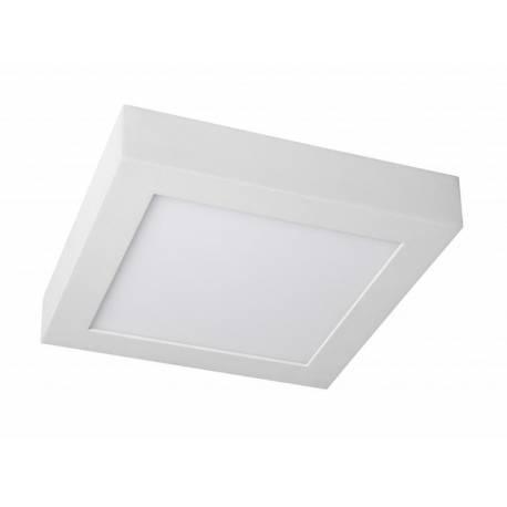Downlight LED 18W cuadrado superficie blanco