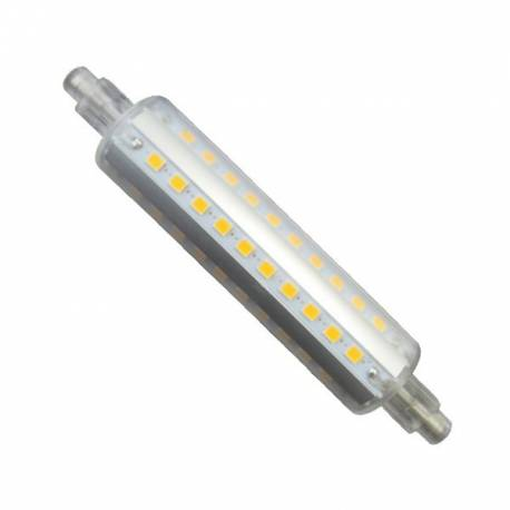 BOMBILLA LED LINEAL SILICONA R7S 118MM 8W 3200K/6400K
