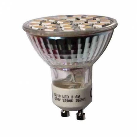 LAMPARA DICROICA GU-10 SMD 3,6W 3.200K/6.400K  EDM