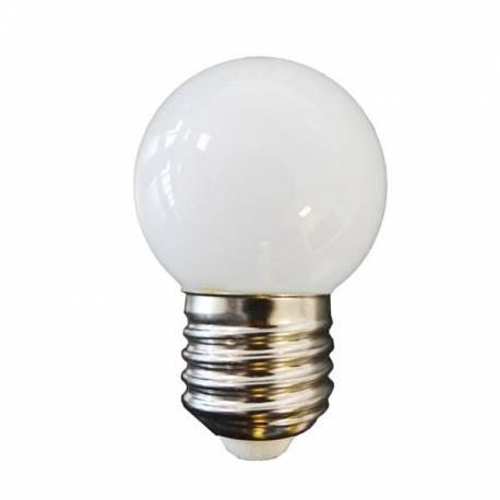 BOMBILLA LED ESFERICA MATE E27 0,6W BLANCO CALIDO/BLANCO FRIO 40Lm 360º