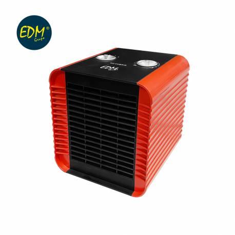 Calefactor compacto 750-1500w rojo edm
