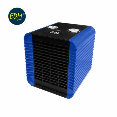 Calefactor compacto 750-1500w azul edm