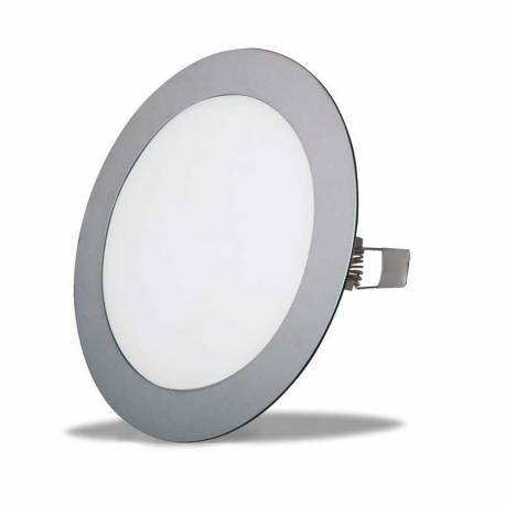 Downlight LED 12W Redondo Empotrar Cromo Mate