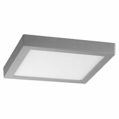 Downlight LED 18W Cuadrado Superficie Cromo Mate