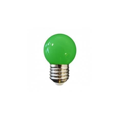 BOMBILLA LED ESFERICA MATE E27 0,6W AMARILLA
