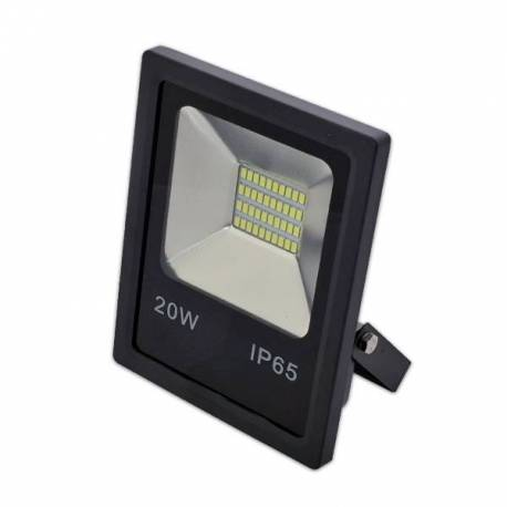 Proyector LED exterior 20W SMD Negro 1.600Lm