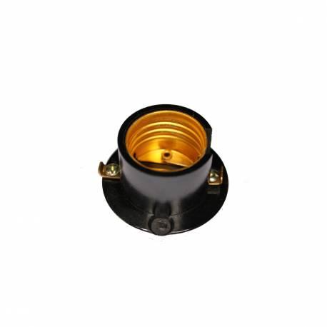 Portalamparas E14 Semi Roscado Negro