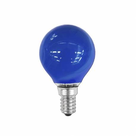 Bombilla esferica e14 25w 220/240v azul