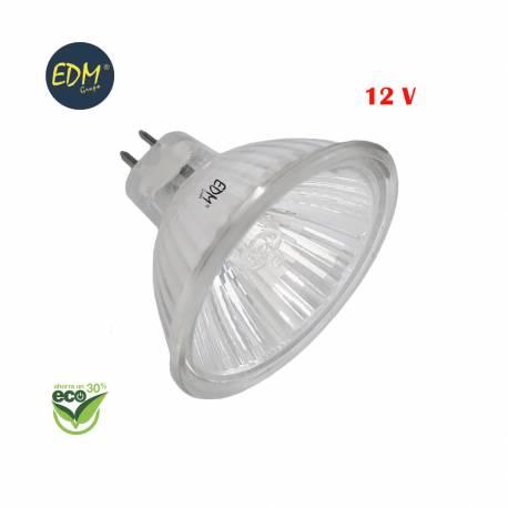 """Bombilla halogena dicroica mr16 """"energy saver"""" 12v 14w (equ. 20w) edm"""