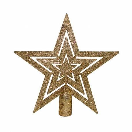 Estrella de navidad 15cm para arbol
