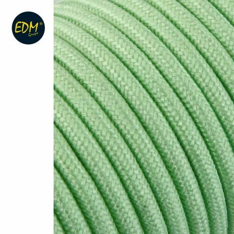 Cable cordon tubulaire  2x0,75mm c69 verde claro 25mts euro/mts