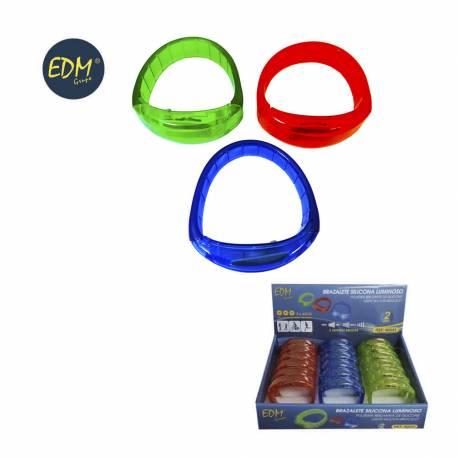 Brazalete de led silicona colores surtidos - pilas incluidas 3xag10