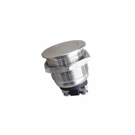 Pulsador metalico 2a 250v cromo plano