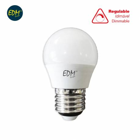 LAMPARA BOMBILLA ESFERICA LED REGULABLE 5,5W E27 500LM