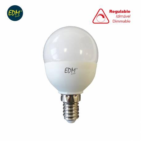 LAMPARA BOMBILLA ESFERICA LED REGULABLE 5,5W E14 500LM