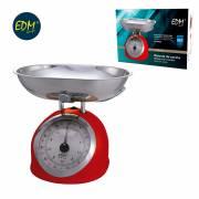 Bascula cocina mecanica clasica max. 5kg roja edm