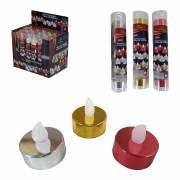 Pack de 5 velas efecto fuego real colores surtidos 35x35x38mm