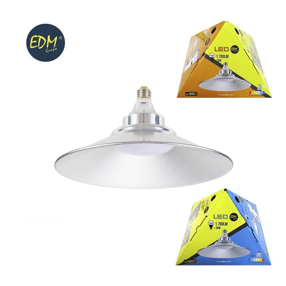 Luminaria 700 LED E27 25cm Lampara Bombilla diametro 20W 1 Lumens wnOX08Pk