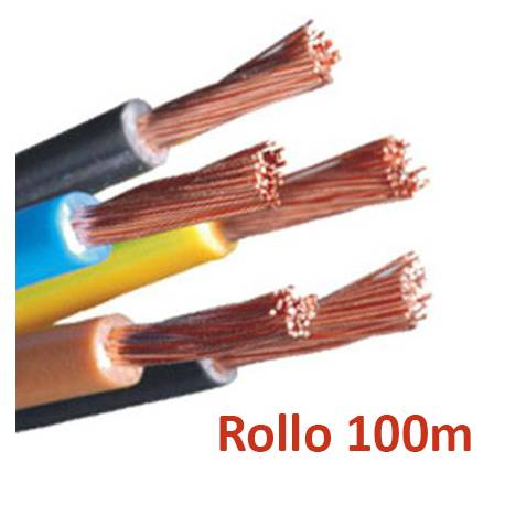 Cable electrico libre de halogenos flexible 10mm - rollo 100m