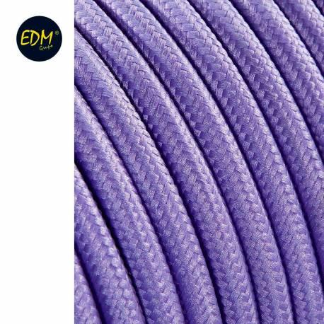 Cable cordon tubulaire  2x0,75mm c65 lila 25mts euro/mts