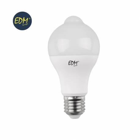 Lampara LED con sensor de movimiento 12W E27