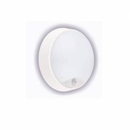 APLIQUE LED EXTERIOR ACRA 14W 4000K C/ SENSOR BLANCO
