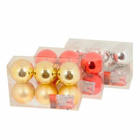 *ultimas unidades* set 6 bolas de navidad ø6cm doradas