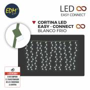 CORTINA EASY-CONNECT 2X2MTS 10 TIRAS 200 LEDS BLANCO FRIO 30V 200W
