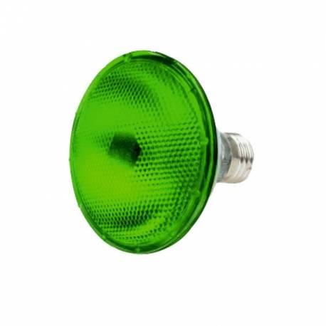 Lampara Bombilla LED PAR 38 E27 9W Verde