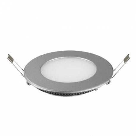 Downlight LED Regulable 6W Redondo Empotrar Cromo Mate