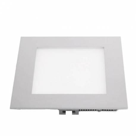 Downlight LED Regulable 6W cuadrado empotrar blanco