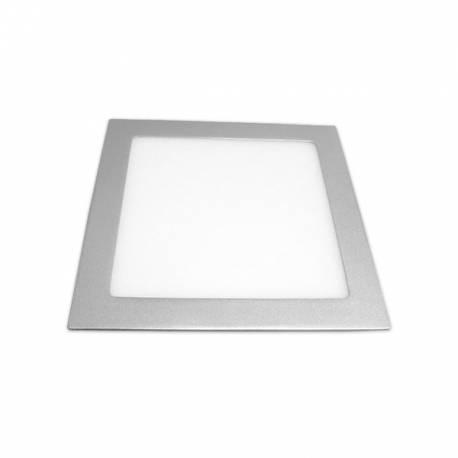 Downlight LED Regulable 18W Cuadrado Empotrar Cromo Mate