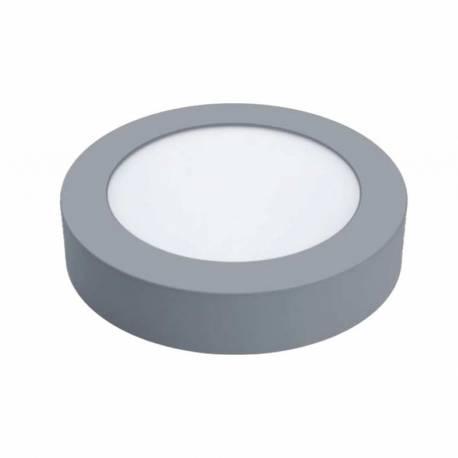 Downlight LED Regulable 12W Redondo Superficie Cromo Mate