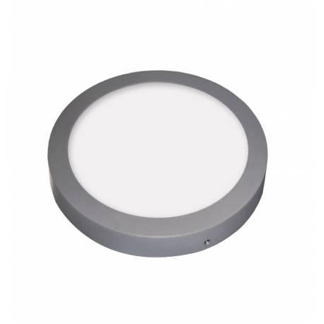 Downlight LED Regulable 18W Redondo Superficie Cromo