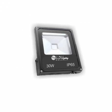 Foco Proyector de LEDs para Exterior Negro 50W RGB con Mando a Distancia