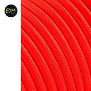 CABLE TEXTIL CORDON 2x0,75MM NARANJA FLUOR