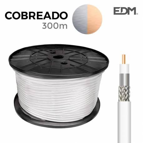 *ult. unidades* carrete coaxial cobreado 300mts edm (bobina grande)