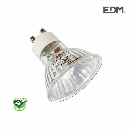 """*ult.unidades*  bombilla halogena dicroica gu10 """"energy saver"""" 220-240v 40w (equ. 50w) edm"""