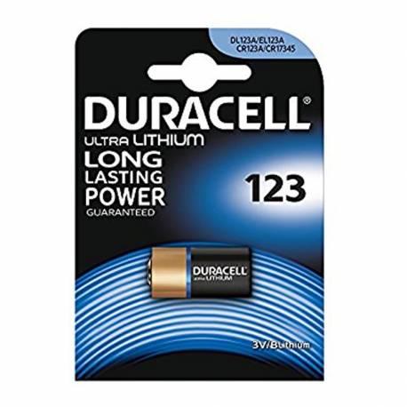 Pila cr123a duracell 3v (blister 1 pila)
