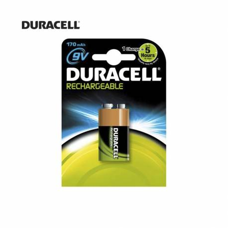 *ult.unidades*  pila recargable 9v 6f22 170 mah (blister 1 pila) duracell