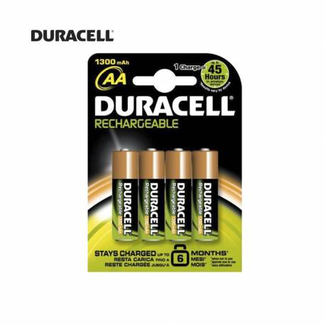 Pila recargable r6 aa 1300mah (blister 4 pilas) duracell