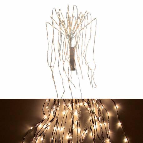 *ult. unidades* cortina led efecto cascada fijo y diferentes velocidades 120cm 440 leds blanco calido ip44