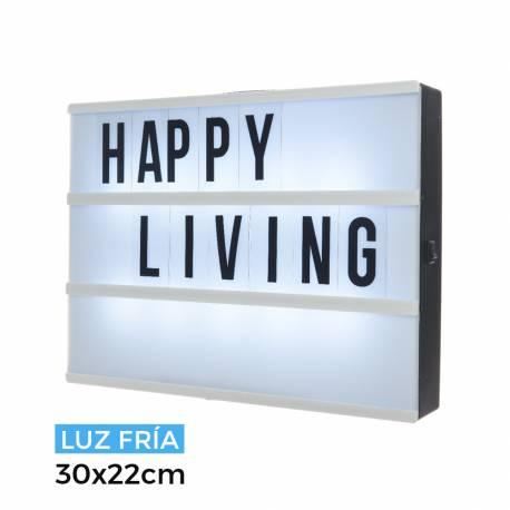 Caja de mensajes de led luz fria 30x22x4,5cm