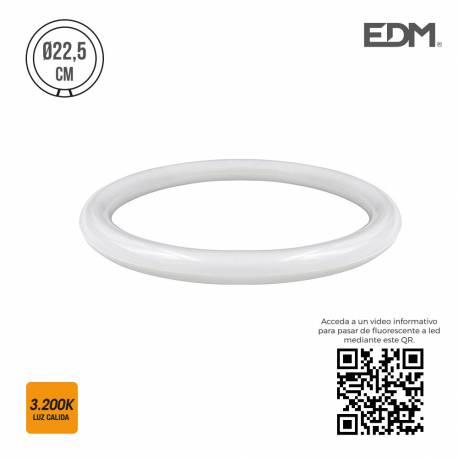 *ult.unidades* tubo circular led g10q 12w  1000 lm 3200k luz calida edm