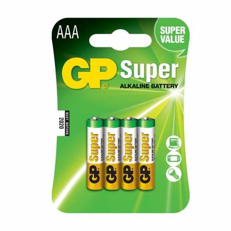 Pila gp alkalina lr03-b4 1,5v (blister 4 pilas)
