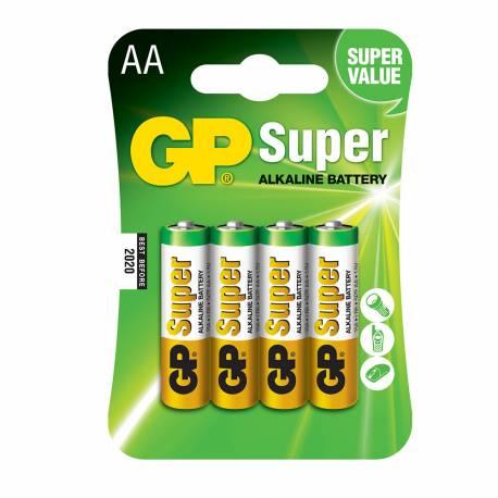 Pila gp alkalina lr06-b4 1,5v (blister 4 pilas)