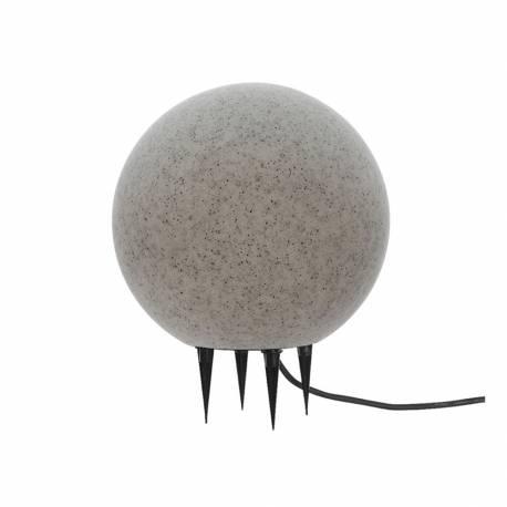 *ult.unidades* bola de led para exterior efecto piedra e-27 ø40cm