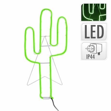 Figura cactus flexiled neon verde 35x81cm ip44