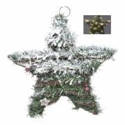 Estrella de rattan con leds 30cm